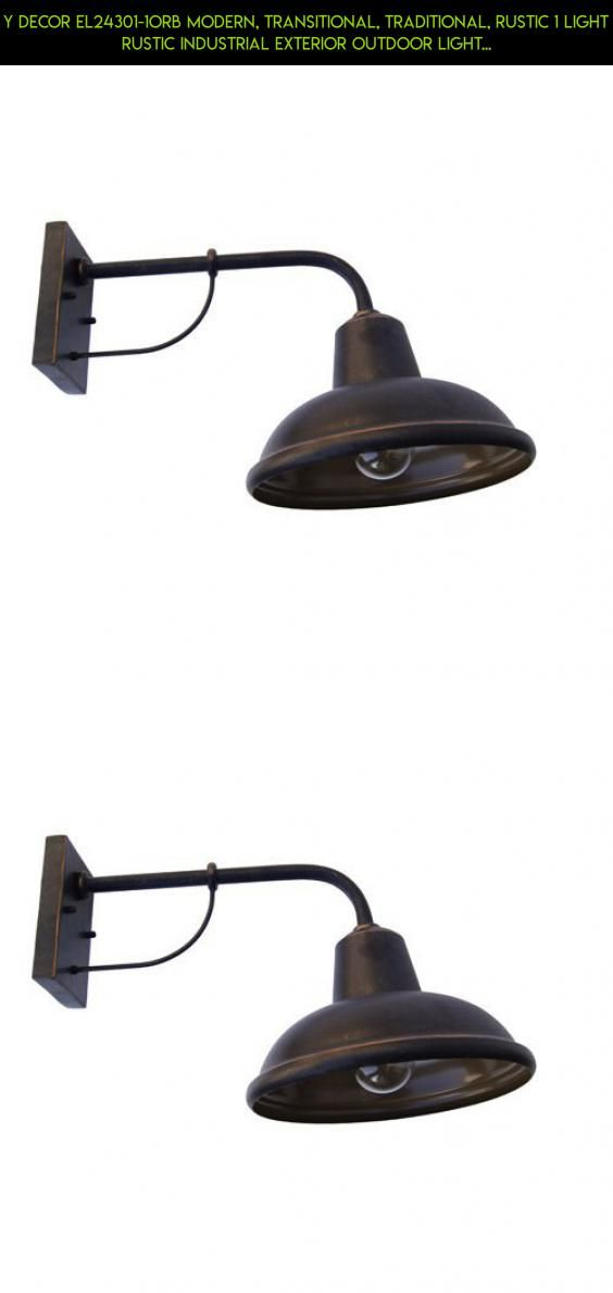 Y Decor EL24301-1ORB Modern, Transitional, Traditional, Rustic 1 Light Rustic Industrial Exterior Outdoor Light Fixture Oil Rubbed Bronze By Y Décor, , Oil Rubbed Bronze, Brown #parts #industrial #shopping #racing #decor #outdoor #gadgets #plans #technology #tech #camera #kit #products #fpv #drone