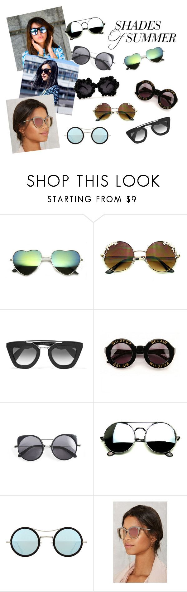"""""""Shades of summer"""" by christine-andresen-1 on Polyvore featuring Prada, Wildfox, Wood Wood, A-Morir by Kerin Rose, Kyme and Quay"""