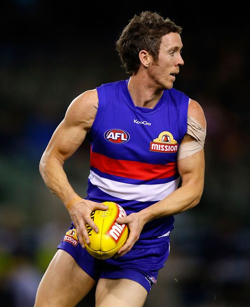 Robert Murphy of the Bulldogs in action during the 2013 AFL Round 18 match between the Western Bulldogs and the West Coast Eagles at the Etihad Stadium
