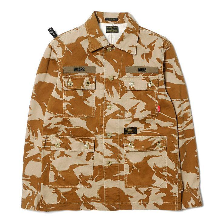 WTAPS Jungle L/S / Shirts. Cotton. DPM Desert
