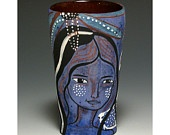 Long Neck - Jenny Mendes Original - Decorative Cup: Decoration Cups, Ceramics Cups, Jenny Mendes, Mendes Originals