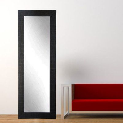 """American Value Current Trend Apartment Black Full Length Wall Mirror Size: 71"""" H x"""