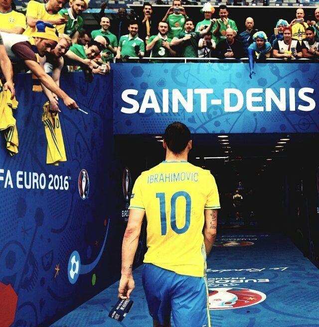 Happy retired legend. Came like a king, left like a legend. #zlatan #ibrahimovic #euro #sweden #euro2016