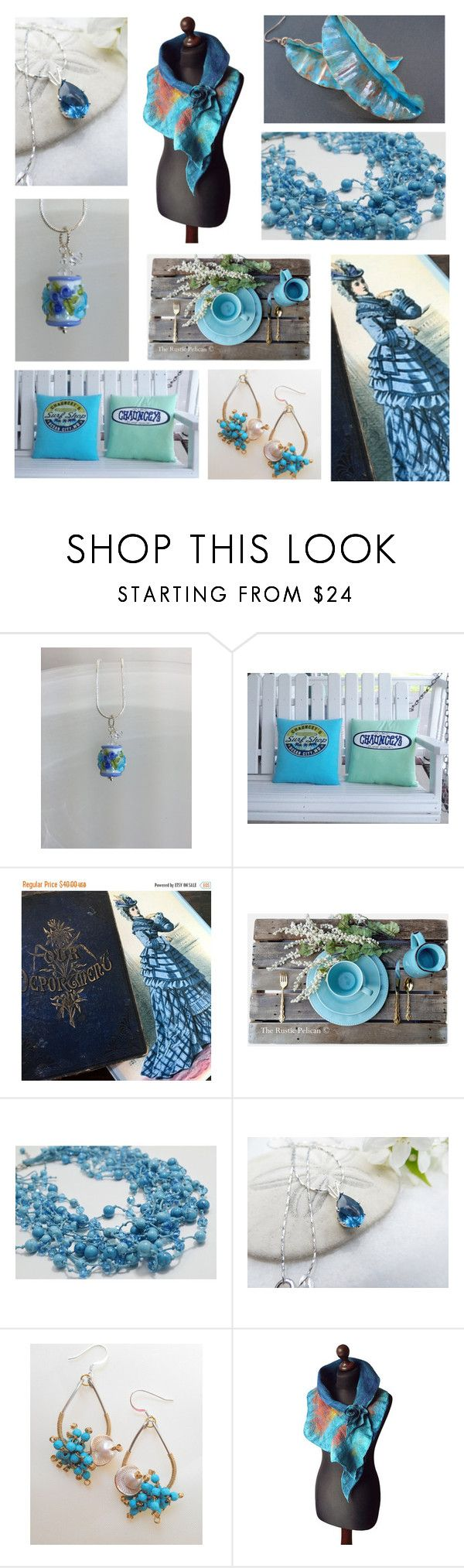 Blues Skies by inspiredbyten on Polyvore featuring Rustico, Etiquette and vintage