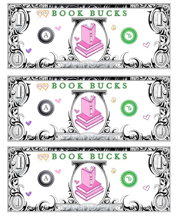 Beau You Can Use These Printable Book Bucks As An Incentive. Give Each Student 1  Book Buck For Each Book They Read Then They Can Spend It In The Classroom  Store.