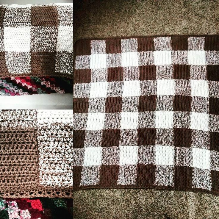 Plaid blanket. Mother's day gift for my mom. #crochet #crochetblanket #crochetafghan #crochetplaid by jolindsay13