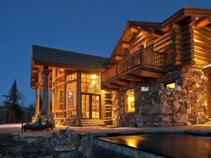 Luxury Log Cabin | LuxuryHomes.com - Living