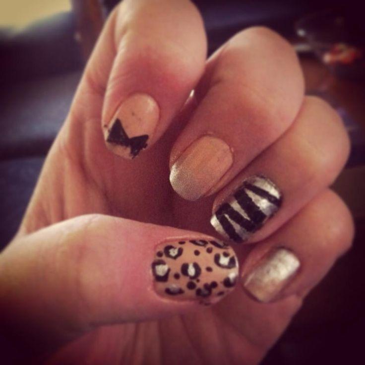 Ashleigh Mcmillan sports a different design on each nail