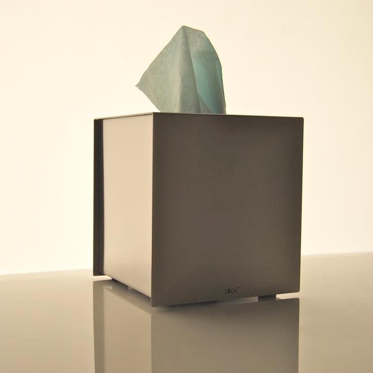 Stainless steel tissue box | Porta fazzoletti di carta in acciaio satinato