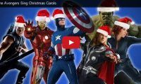 "The Avengers Sing Christmas Carols Lol. Last year, video editor, James Covenant, did his ""Let it Snow"" Christmas vid, Captain Picard-style, using scenes from ""Star Trek: The Next Generation"", which was viewed over 2M times, (see 2nd vid) and now he's back this year with..."