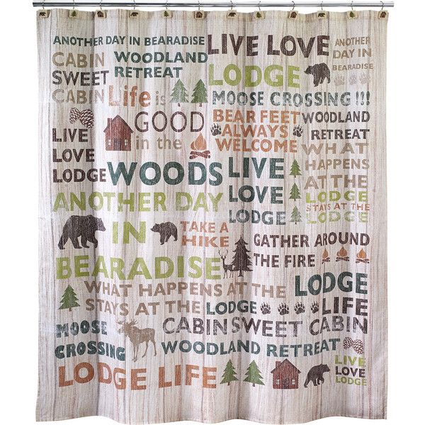Pier 1 Imports Cabin Words Shower Curtain 40 Liked On
