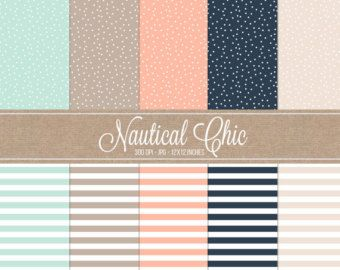 navy coral mint - Google Search
