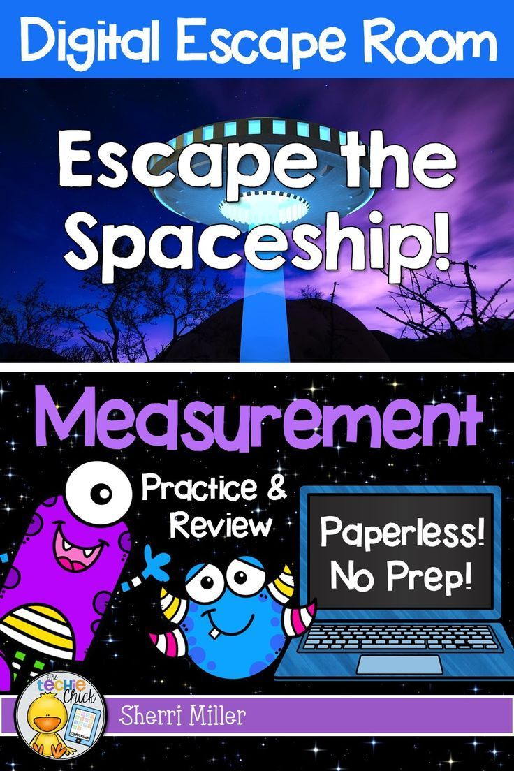 Measurement Digital Escape Room Escape The Spaceship Distance Learning Math Math Review Technology Lessons