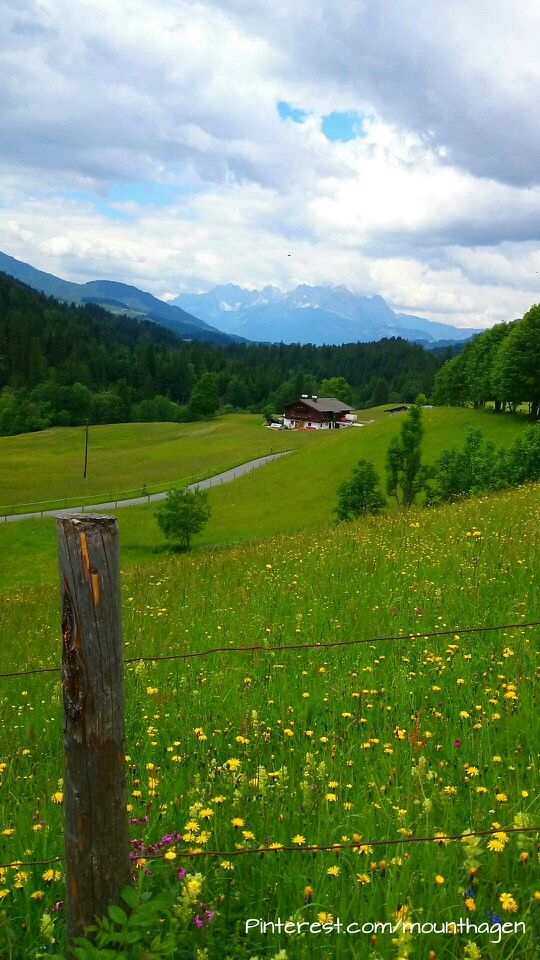 #Fieberbrunn in Tirol/Austria with an amazing view of the Wilder Kaiser mountain range