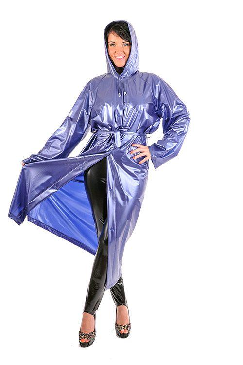 KEMO Cyberfashion Onlineshop für Mode und Regenkleidung aus PVC-PVC Regenmantel lang