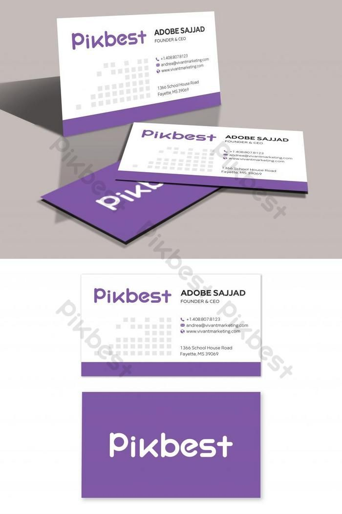 Purple Minimalist Clean Business Card Template Psd Free Download Pikbest Cleaning Business Cards Business Card Template Psd Minimalist Business Cards