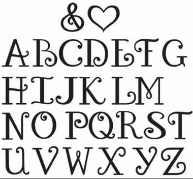 Single Letters cut out by CreativeChirstian on Etsy, $9.45