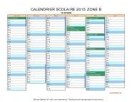 calendrier scolaire 2015 zone B
