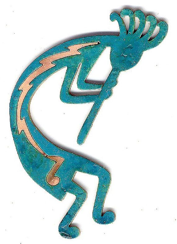 Coppercutts Kokopelli With Music Note 6 Quot X 4 Quot Wall Plaque