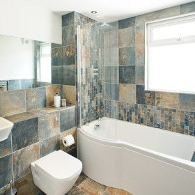 Edge 14 - Newquay Holiday House - The Big Cottage Company - Kate & Tom's -  Flag stone bathroom at Edge 14 in Newquay