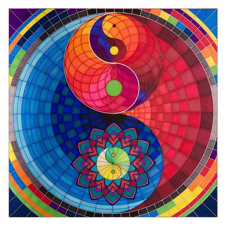 """""""THE ALCHEMIST YING-YANG"""" (El Yin – Yang Alquimista) FUNCIÓN.  Este mandala fue diseñado para favorecer la comprensión sobre la dualidad y la armonía en los opuestos. SÍMBOLOS:  Taiji (Yin-Yang) fractal.   INTERPRETACIÓN TERAPÉUTICA DETALLADA. Solicitar vía correo electrónico a sacredarttherapy@gmail.com"""