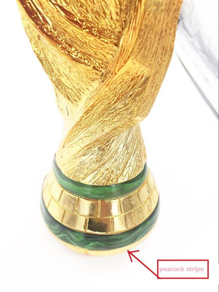 Pavão faixa De Efeito de Mármore top qualidade full size 37 cm 5 KG Prêmio Campeão troféu da copa do mundo do brasil 2014 de Futebol
