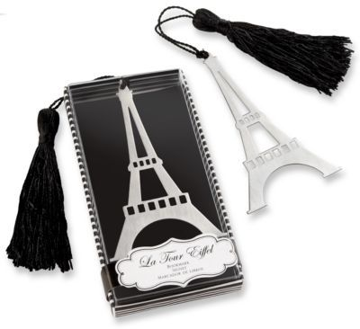 Eiffel tower bookmark favor, wedding souvenir, the knot