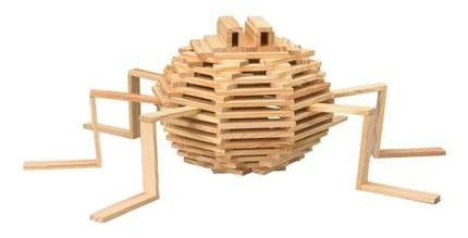 Spider citiblocs keva kapla planks pinterest spider for Plank blocks