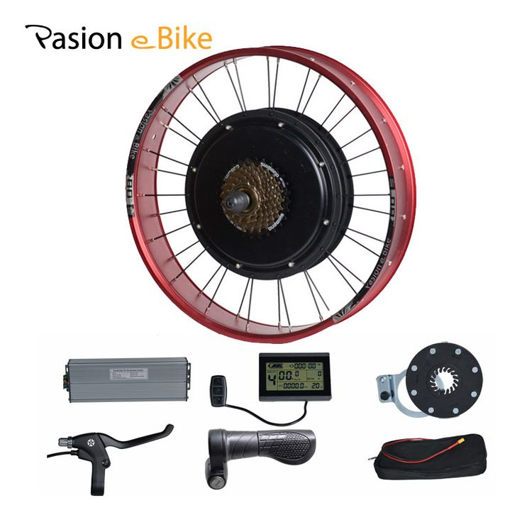 """Pasion E Bike 48 В 1500 Вт Электрические велосипеды conversion kit жира велосипедов 20 \""""колесо Двигатель для 190 мм концентратора двигатель ЖК-дисплей Дисплей..."""
