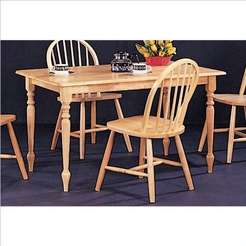 New Natural Butcher Block Farm Dining Table 4 Chairs Co