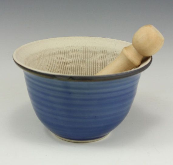 Blue Suribachi Surikogi Webb Pottery by webbpottery on Etsy, $20.00