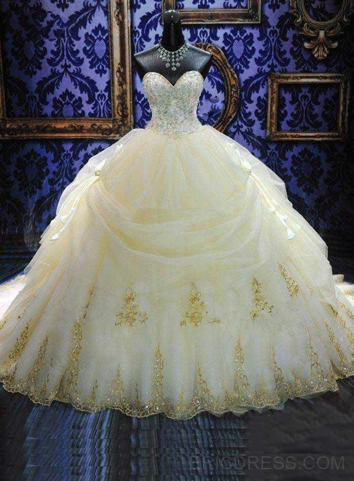 Organza White Quinceanera Dresses 2015 New Arrival Hot Sale Dress Prom Gowns Sweetheart Neck Sleeveless Backless Vestido de Quinceanera Gold Evening Dress/Long Prom Dress/Ball Gown Party Dress                                                                                                                                                                                 Más