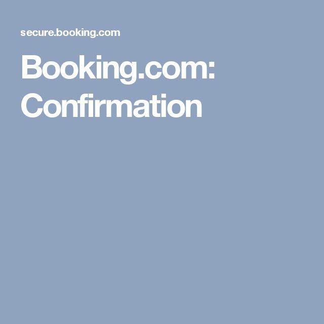 Booking.com: Confirmation