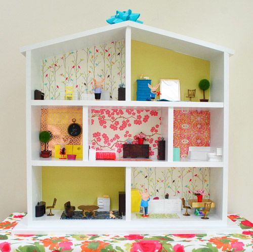 sweet wooden dollhouse