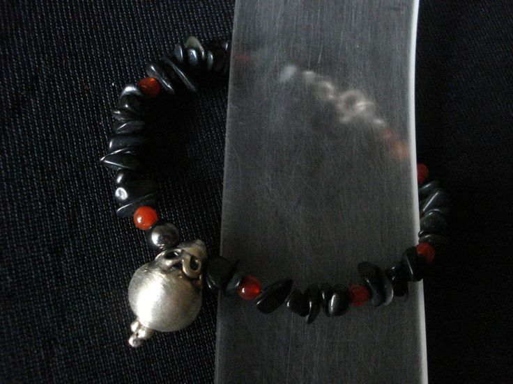 handmade bracelet of silver 925 and onyx