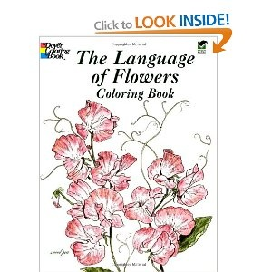 The Language of Flowers Coloring Book (Dover Pictorial Archives)   John Green
