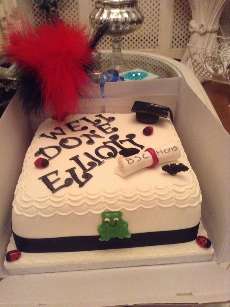 A scientist graduation cake x