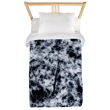 Flowering time Twin Duvet on CafePress.com