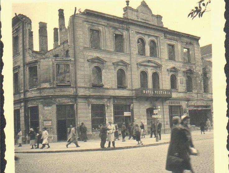Hotel Victoria - tyle z niego zostało po bombardowaniu