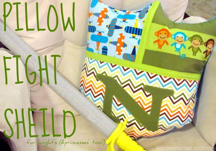 busily spinning momma: Just A Little Bit of Pillow Talk...Shields Pillows, Pillows Fight, Boys Gift, Gift Ideas, Pillows Shields, Fight Shields, Kids, Christmas Gift, Homemade Gift