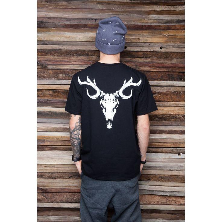 'SKULL' - Koszulka Unisex - Czarna