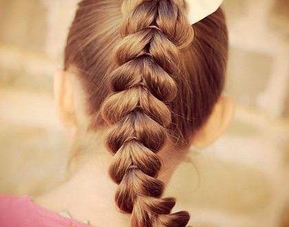 Коса перевернутые сердечки