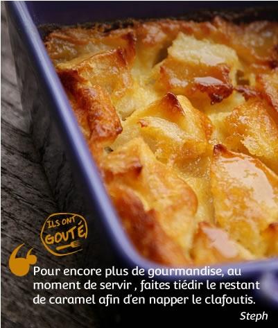 Clafoutis pommes & caramel au beurre salé _ une recette de Blog _ http://www.cuisineaz.com/dossiers/cuisine/desserts-beurre-13659.aspx