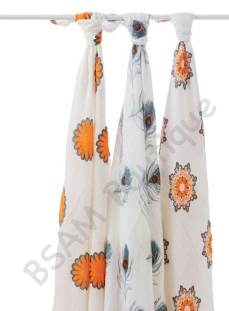 Aden and Anais – Bamboo Muslin Swaddle Wrap 3 pack – Mela |