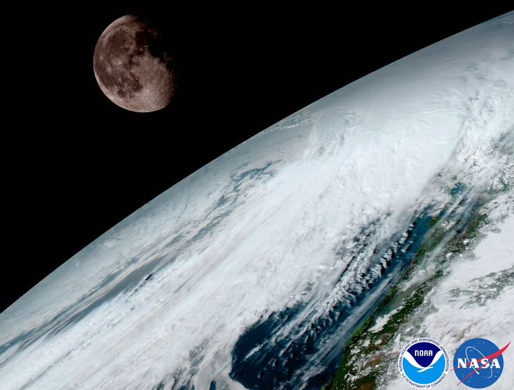 Launched last November 19 from Cape Canaveral Air Force Station, the satellite now known as GOES-16 can now observe planet Earth from a geostationary orbit 22,300 miles above the equator. Its Advanced Baseline Imager captured this contrasting view of Earth and a gibbous Moon on January 15.