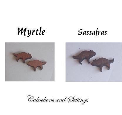 Show details for Tasmanian Devil Myrtle or Sassafras Wooden Laser Cut native Animals / Birds Cabochons