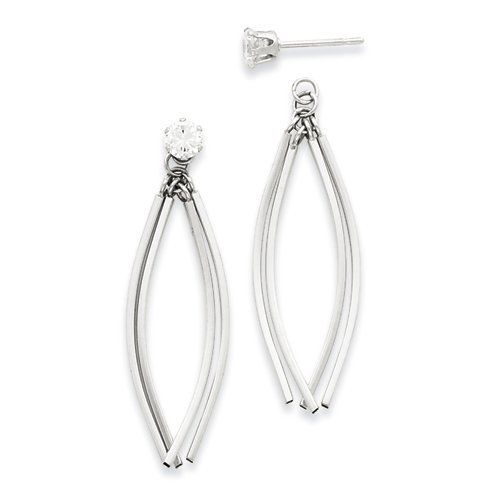 14kw Curved Dangles with CZ Stud Earring Jackets LaneMax Jewelry. $213.99. 14kw Curved Dangles with CZ Stud Earring Jackets