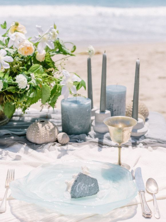 Ethereal Pale Blue Ocean Inspired Bridal Session   Wedding Sparrow   Luna de Mare Photography