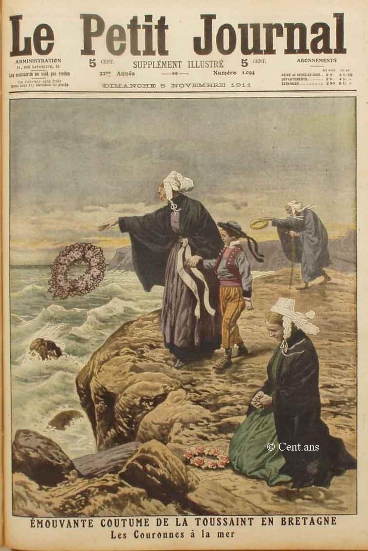 """Le Petit Journal : """"Les Couronnes à la mer""""."""