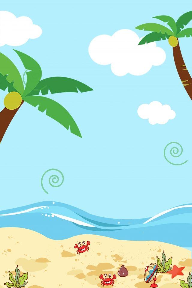 海灘旅遊卡通海景 Playa Dibujo Fondos De Dibujos Animados Fondo De Pantalla De Viajes